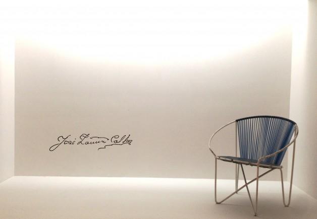 Jose Zanine Caldas vintage metal armchair