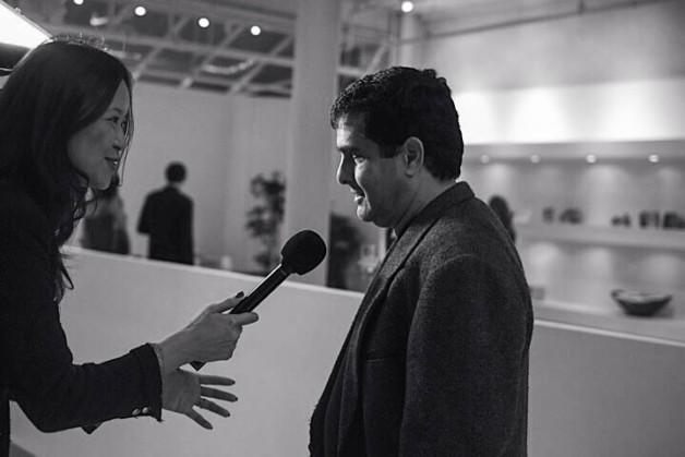 Liling Tan of CCTV interviewing Carlos Ricardo Niemeyer