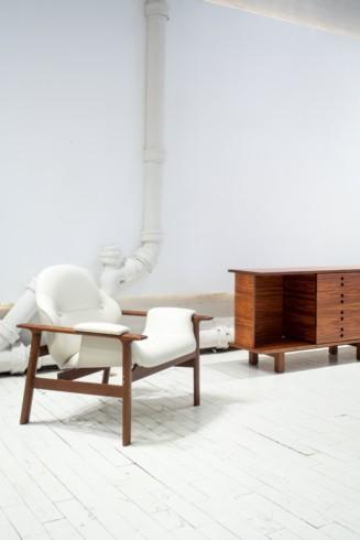Veronica armchair and JZ Buffet by Jorge Zalzsupin by Jorge Zalszupin