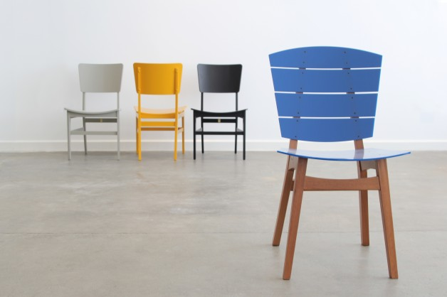 ESPASSO London Showroom. Astania dining chairs by Etel Carmona and Rio dining chair by Carlos Motta.