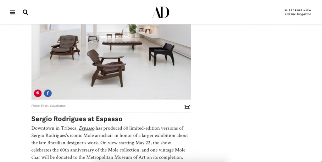 AD Editors Pick From NY Fairs  - ESPASSO