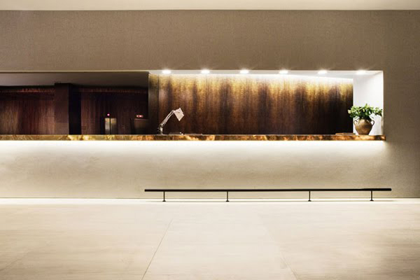 The Square 9 Hotel reception desk