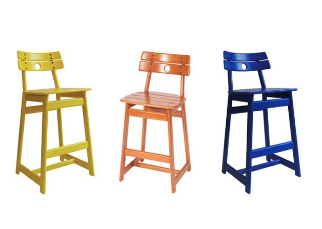 'Tajá' bar stool by Sergio Rodrigues