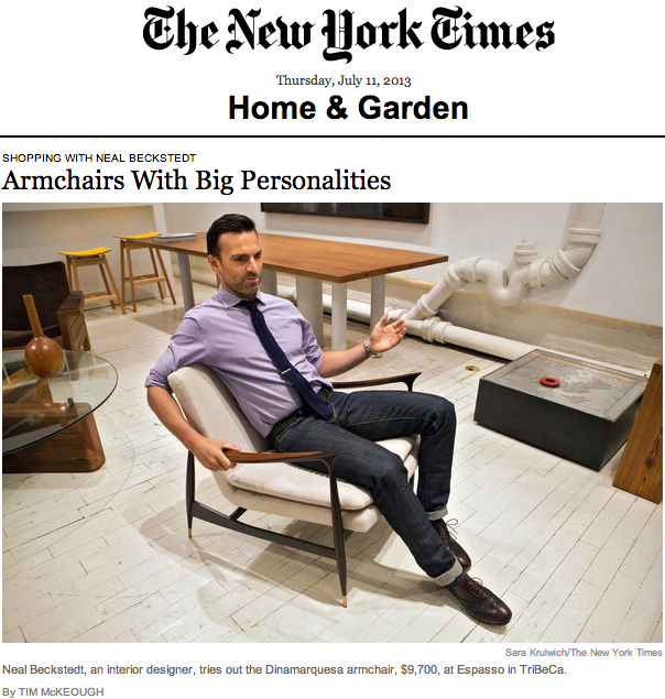 The New York Times U2013 Armchairs With Big Personalities