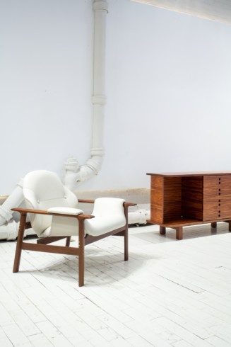 Veronica armchair and JZ Buffet by Jorge Zalzsupin by Jorge Zalszupin