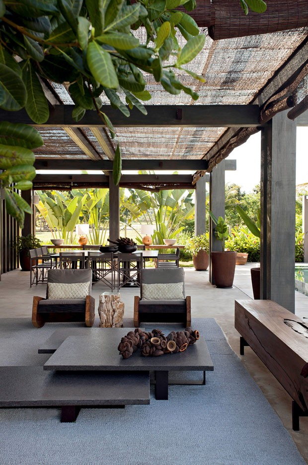 Casa Vogue Brasil A Contemporary And Rustic Beach House