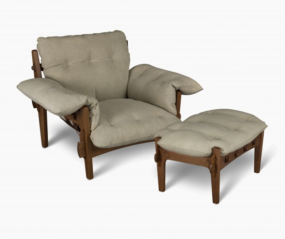 Moleca armchair and ottoman - Sergio Rodrigues